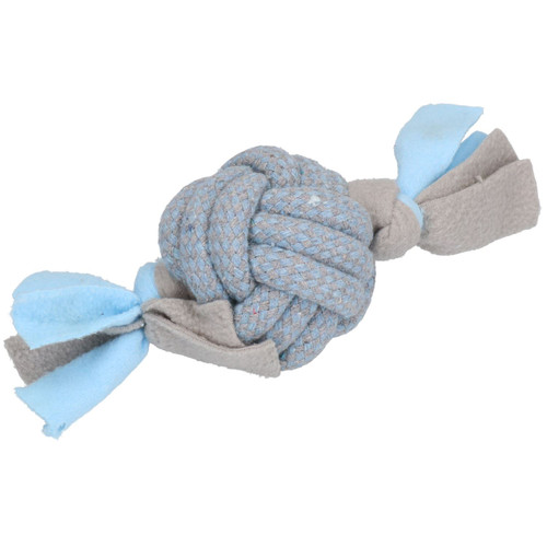 2 Blue Small Dog Puppy Fleecy Rope Play Toy Bundle Great For Teeth & Gums
