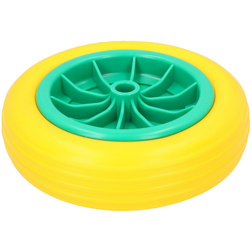 """10"""" Solid Rubber Tyre For Sack Trucks Wheel Barrows Trolleys 20mm Centre 2pc"""