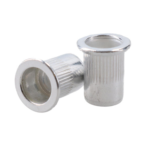 M8 8mm Alu Nut Serts Riveting Nuts Rivet Threaded Inserts Blindnut Rivnut 25pc