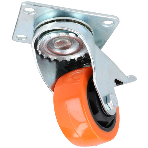 """3"""" Fixed + Swivel With Brake Castors Wheel Roller Bearings 100kg Load Each 4pc"""