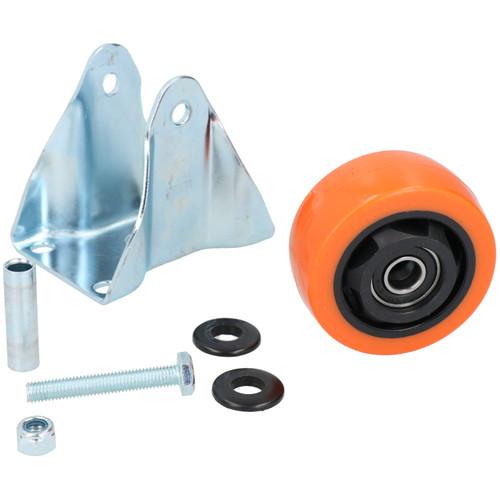 """3"""" Fixed PVC Trolley Castor Wheel Roller Bearings 100kg Load Per Wheel 2 Pack"""