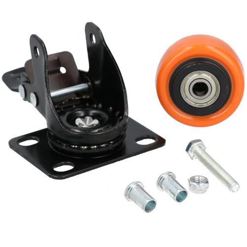 """2"""" Swivel + Swivel with Brake Castors Wheel Roller Bearings 70kg Load Each 4pc"""