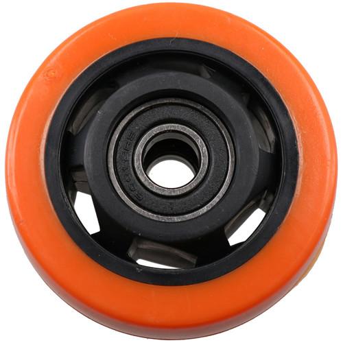 """3"""" Swivel PVC Trolley Castor Wheel With Brake Roller Bearings 100kg Load 8pc"""