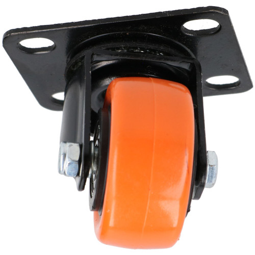 """2"""" Swivel PVC Trolley Castor Wheel Roller Bearings 70kg Load Per Wheel 2 Pack"""