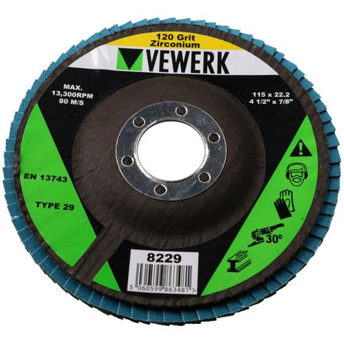 20 x Flap Discs 115mm Zirconia 80 Grit Angle Grinder