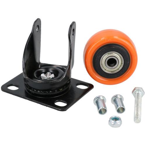 """2"""" Swivel PVC Trolley Castor Wheel Roller Bearings 70kg Load Per Wheel 8 Pack"""