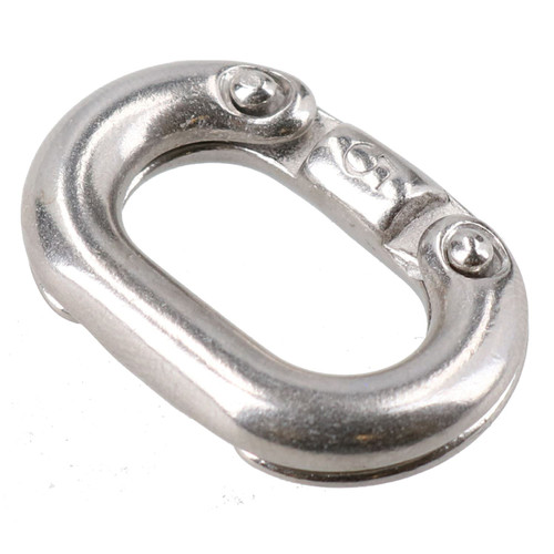 2 Pack Chain Connecting Link 5mm Marine Grade Stainless Steel Split Shackle