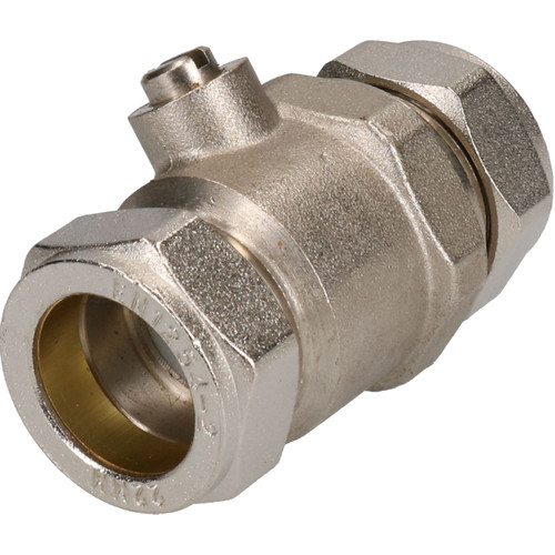 22mm Full Bore Chrome-plated Isolating Valve Hot or Cold Systems for Copper Pipe
