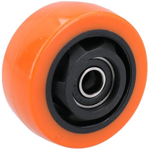 """3"""" Fixed PVC Trolley Castor Wheel Roller Bearings 100kg Load Per Wheel 8 Pack"""