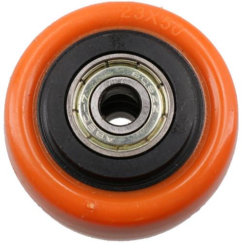"""2"""" Swivel PVC Trolley Castor Wheel With Brake Roller Bearings 70kg Load 2pc"""