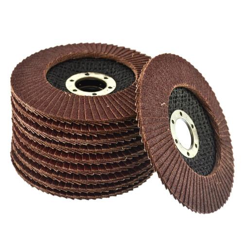 "20 x Flap Discs 80 Grit Angle Grinder 4.5"" (115mm) Flat Sanding Grinding AU014"