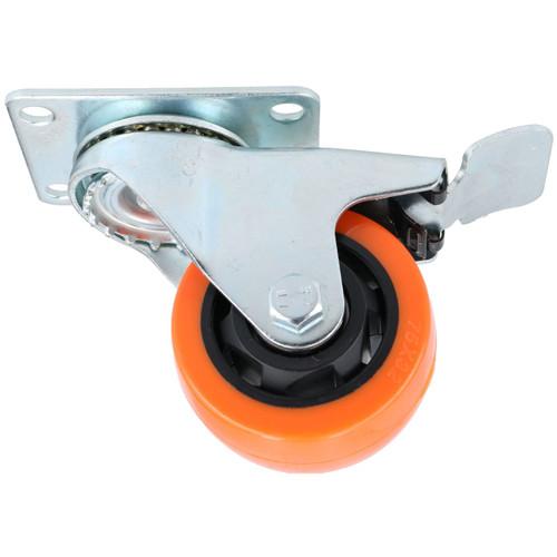 """3"""" Swivel PVC Trolley Castor Wheel With Brake Roller Bearings 100kg Load 4pc"""