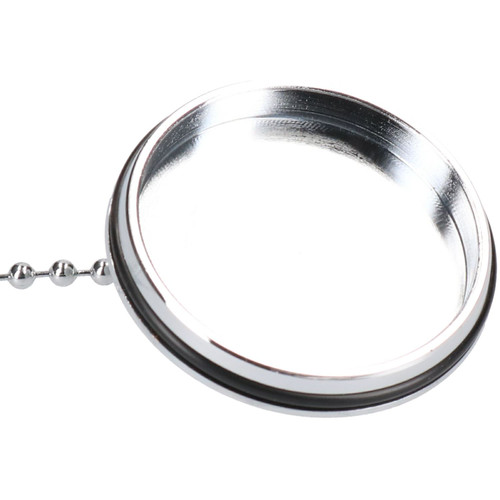 "1 3/4"" (44mm) Chrome Basin Sink Bath Plug & 420mm Chrome-Plated Chain Bung"