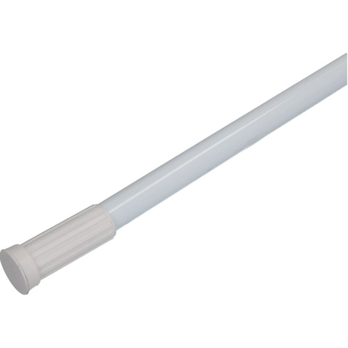1250 - 2300mm White Extendable Telescopic Straight Shower Rail Adjustable Pole