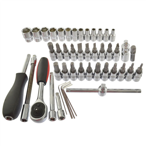 "1/4"" Drive Metric MM Socket And Accessory Set 46pc 4mm - 14mm  AN041"