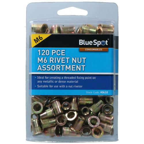 6mm Steel Nut Serts Inserts Rivet Nut Threaded Inserts Blindnut Rivnut Fastener