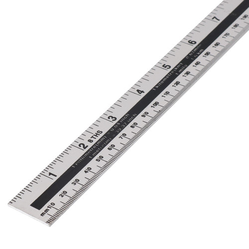 "1m (40"") Aluminium Ruler Imperial & Metric Conversion Table Straight Edge Rule"