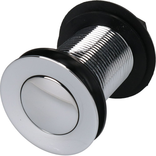 "11/4"" (32mm) Chrome Plated Spring Press to Lift Plug Basin Waste Drain Unslotted"