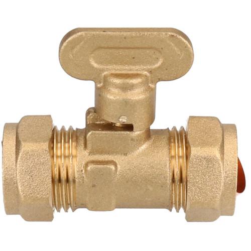 15mm Gas Isolating Valve Shut-Off Domestic Gas Quarter Turn Operation Brass