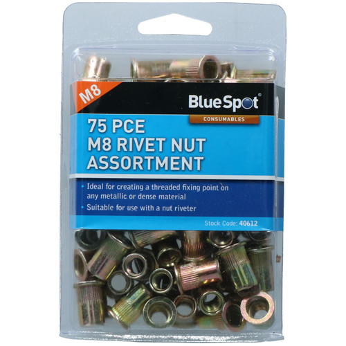 8mm Steel Nut Serts Inserts Rivet Nut Threaded Inserts Blindnut Rivnut Fastener