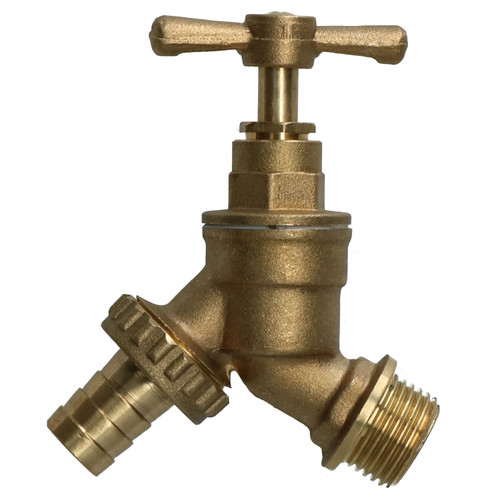 """1/2"""" (15mm) Hose Union Bib Tap Brass Outdoor Water Supply Weather-Resistant"""