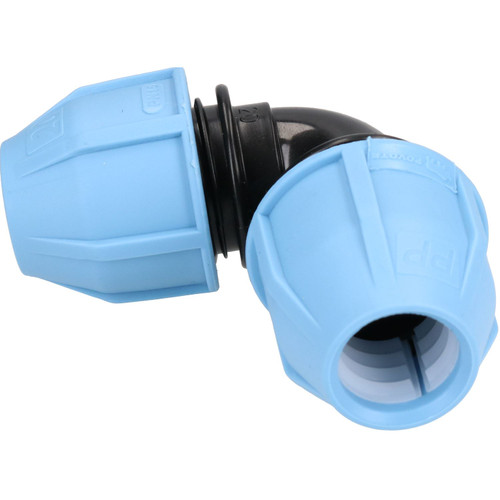 20 x 20mm MDPE 90Elbow Compression Coupling for Underground Systems