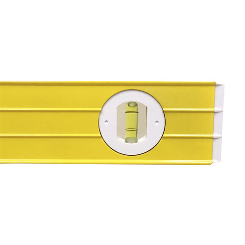 """48"""" 1200mm Ribbed Spirit Level Aluminium Scaffolding Builders Milled Box Section"""