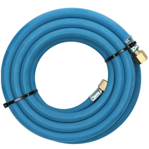 """Single Oxygen Fitted Rubber Hose Pipe Cutting & Welding 5M 3/8"""" BSP Gas Blue"""