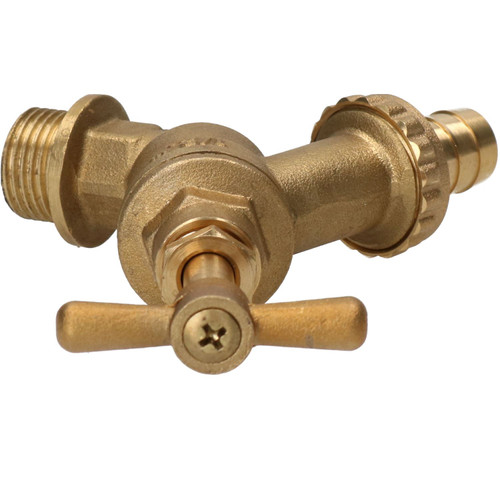 """1/2"""" Brass Hose Union Tap with Double Check Valve Back-flow Prevention Outdoor"""