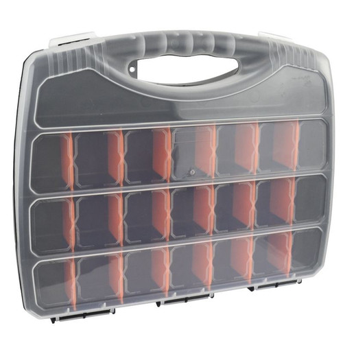 Medium Divided Compartment Organiser Work Plastic Case Box Holder Storage CN02