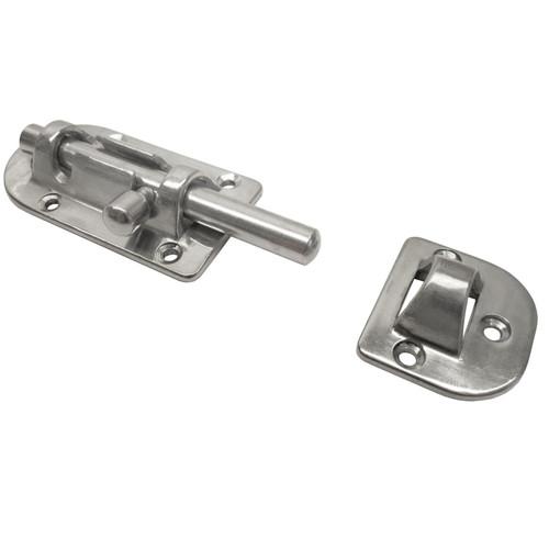 Door Bolt Cabin Security Lock Polished Stainless Steel Marine Grade Toilet DK21