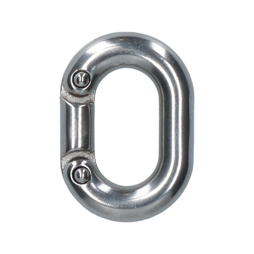 2 x Chain Connecting Link 6mm Marine Grade Stainless Steel Split Shackle DK70