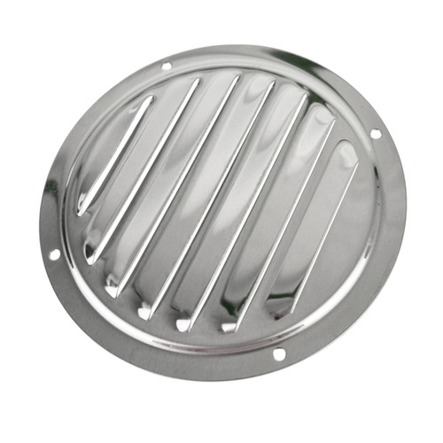 AB Tools-Deacon Air Vent Scoop Drain Cover Shell Shaped Polished Stainless Steel 57mm 2PK