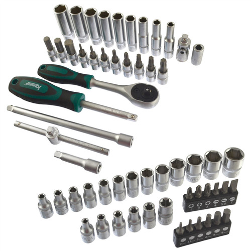 "1/4"" Drive Metric MM Socket And Accessory Set 58pc 4mm - 14mm LSR42"