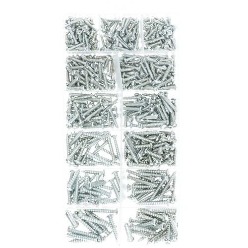 550 piece Metric Sheet Metal Self Tapping Screw Assortment kit AST33
