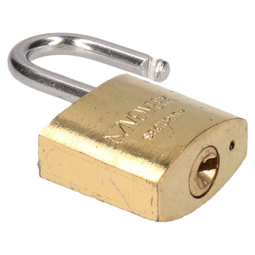 12 x 20mm Shackle Brass Padlock / Security / Lock Gate Door Shed AT002