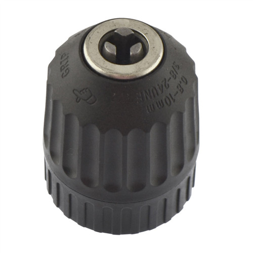 """10mm Keyless Drill Bit Chuck with 3/8"""" x 24 UNF Imperial AF SAE Thread AT014"""