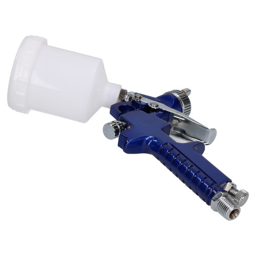Mini Spray Gun / Gravity Feed HVLP Touch Up Gun 0.8mm Nozzle 100ml Pot