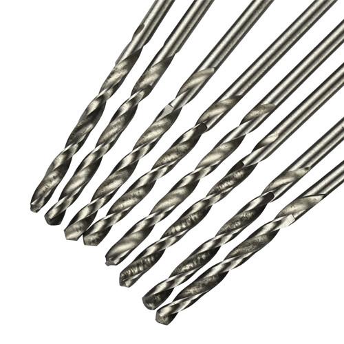 10pc Métrique HSS-R Drill Set longue série 4 x 119 mm Jobber Bits Forets SIL229