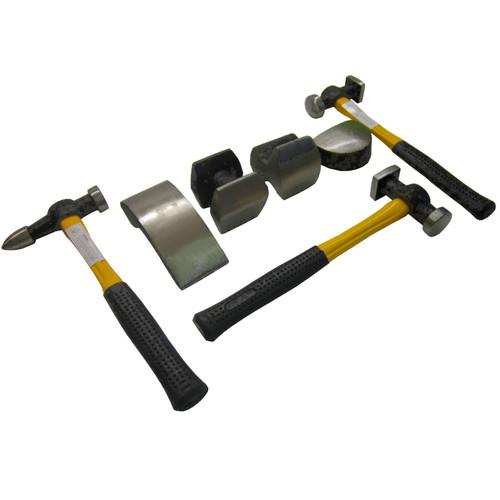 Panel Beating Hammers & Dollies / Body Repair Kit with Fibreglass Handles TE101