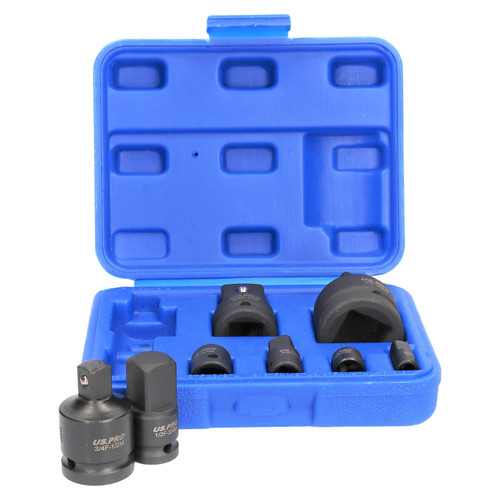 8pc Impacted Impact Socket Adapter Adaptor Reducer Step Up Converter Set