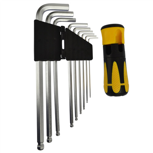 Ball Ended Allen Alan Allan Keys Hex Key Set (MM / 9PCS) TE281