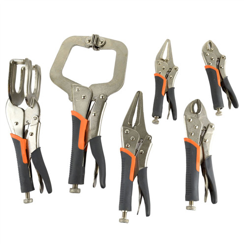 16pc Vice Grip Locking Wrench Plier Mole Grip Round Nose Welding Clamp AT068