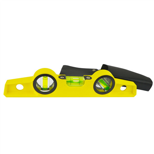 "10"" Cast Magnetic Scaffolding Level Scaffold Tools Spirit Level with Pouch TE330"