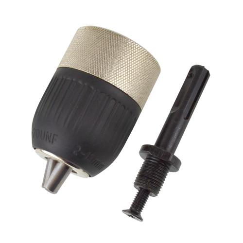 """SDS Adaptor / Adapter with 1/2"""" / 13mm Keyless Chuck / Twist Drill Thread TE459"""
