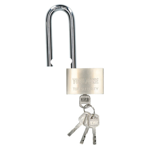 60mm long shackle padlock 4 keys security / lock / shed / garage TE622
