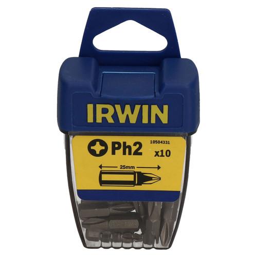 Irwin Ph2 Phillips Screwdriver Bits 25mm 1/4inch Hex Shaft Insert x 10 TE651