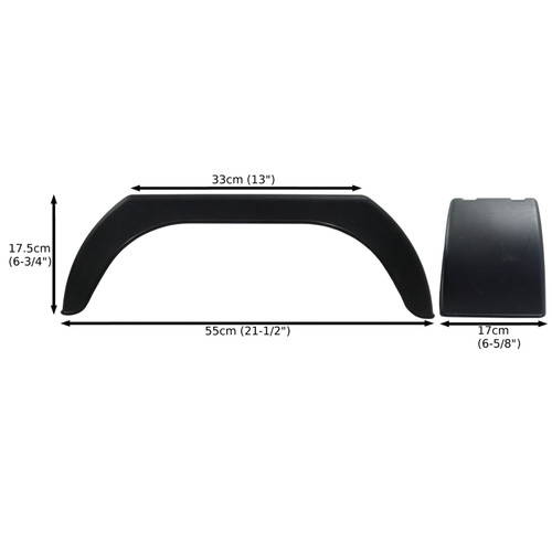 "Mudguard for Trailer Wheels 8"" Plastic Single / Wing / Fender TR001"
