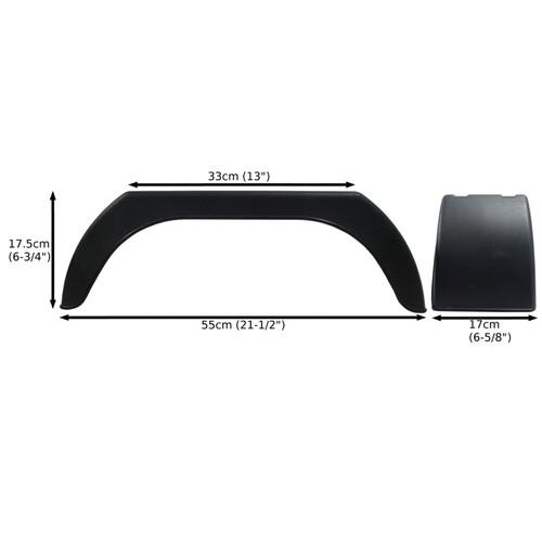 "Mudguard for Trailer Wheels 8"" Plastic PAIR / Wing / Fender TR001"
