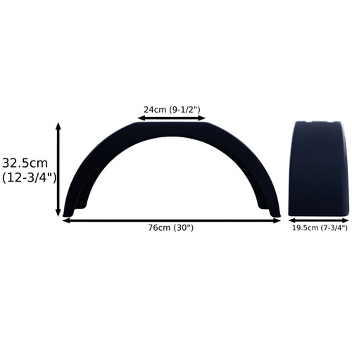 "Mudguard for Trailer Wheels 13"" Plastic PAIR  / Wing / Fender TR003"